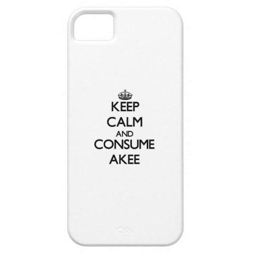 Mantenga tranquilo y consuma Akee iPhone 5 Coberturas