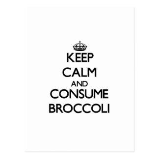 Mantenga tranquilo y consuma el bróculi postal