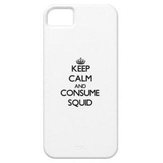 Mantenga tranquilo y consuma el calamar iPhone 5 Case-Mate cobertura