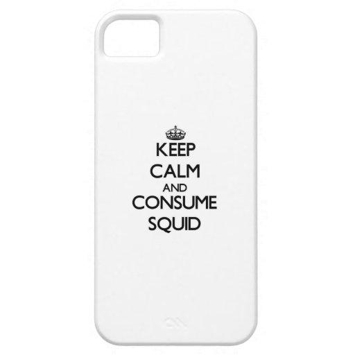 Mantenga tranquilo y consuma el calamar iPhone 5 cárcasa