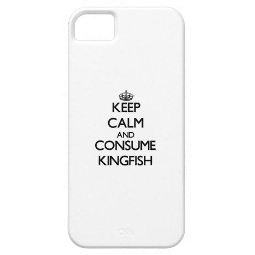 Mantenga tranquilo y consuma el carita iPhone 5 Case-Mate cobertura