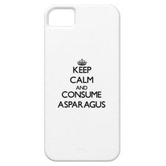 Mantenga tranquilo y consuma el espárrago iPhone 5 Case-Mate fundas