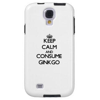 Mantenga tranquilo y consuma el Ginkgo Funda Para Galaxy S4