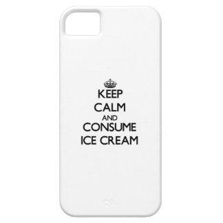Mantenga tranquilo y consuma el helado iPhone 5 protector