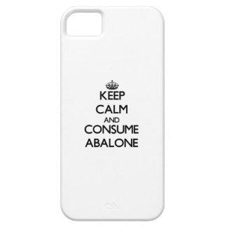 Mantenga tranquilo y consuma el olmo iPhone 5 Case-Mate fundas