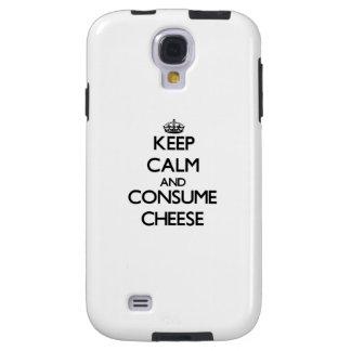 Mantenga tranquilo y consuma el queso funda para galaxy s4