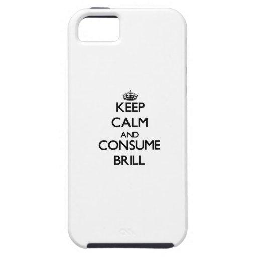 Mantenga tranquilo y consuma el rodaballo iPhone 5 Case-Mate carcasa