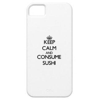 Mantenga tranquilo y consuma el sushi iPhone 5 Case-Mate funda