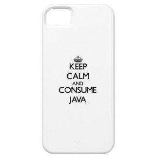 Mantenga tranquilo y consuma Java iPhone 5 Case-Mate Fundas