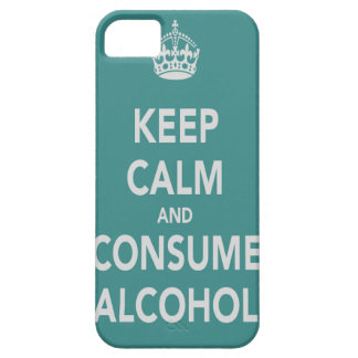 Mantenga tranquilo y consuma la caja del teléfono iPhone 5 Case-Mate coberturas