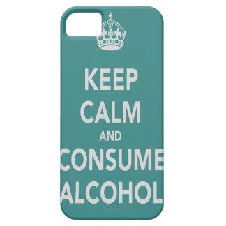 Mantenga tranquilo y consuma la caja del teléfono funda para iPhone SE/5/5s