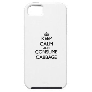 Mantenga tranquilo y consuma la col iPhone 5 Case-Mate cárcasas