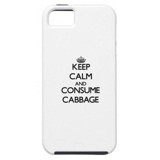 Mantenga tranquilo y consuma la col iPhone 5 Case-Mate cárcasa