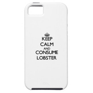 Mantenga tranquilo y consuma la langosta iPhone 5 Case-Mate cárcasas