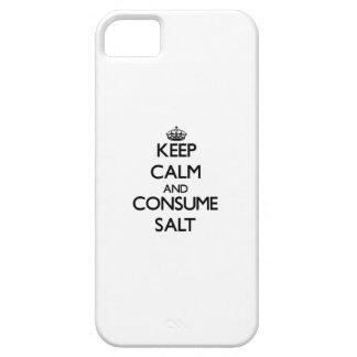 Mantenga tranquilo y consuma la sal iPhone 5 Case-Mate protectores