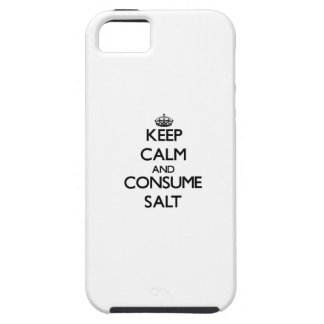 Mantenga tranquilo y consuma la sal iPhone 5 Case-Mate cárcasa