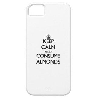 Mantenga tranquilo y consuma las almendras iPhone 5 Case-Mate fundas