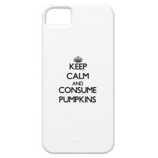 Mantenga tranquilo y consuma las calabazas iPhone 5 Case-Mate protectores