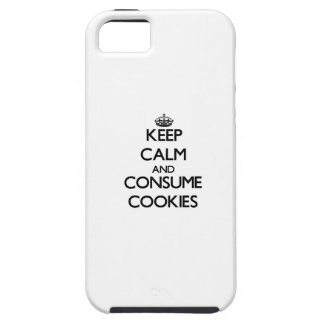 Mantenga tranquilo y consuma las galletas iPhone 5 Case-Mate cárcasas