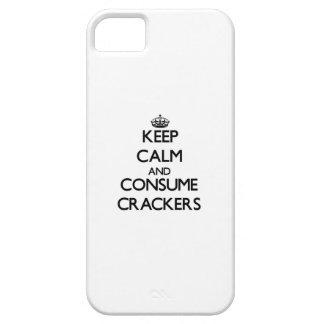 Mantenga tranquilo y consuma las galletas iPhone 5 Case-Mate funda