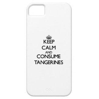 Mantenga tranquilo y consuma las mandarinas iPhone 5 Case-Mate cobertura