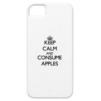 Mantenga tranquilo y consuma las manzanas funda para iPhone 5 barely there