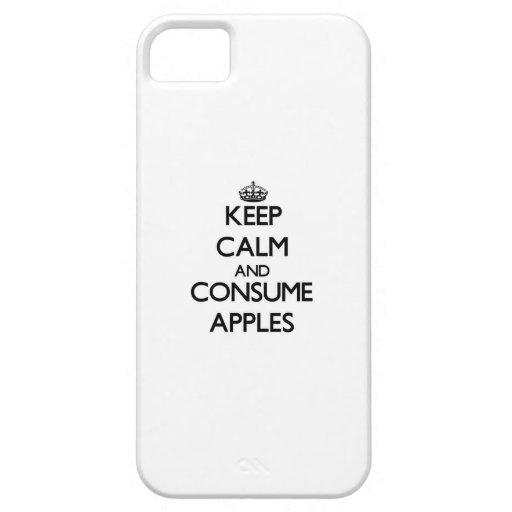 Mantenga tranquilo y consuma las manzanas iPhone 5 cobertura