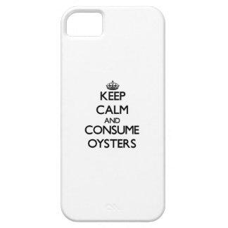 Mantenga tranquilo y consuma las ostras iPhone 5 Case-Mate protectores