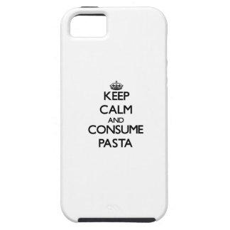 Mantenga tranquilo y consuma las pastas iPhone 5 funda