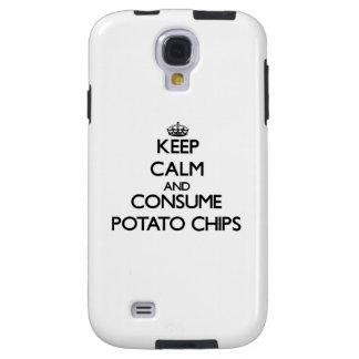 Mantenga tranquilo y consuma las patatas fritas funda para galaxy s4