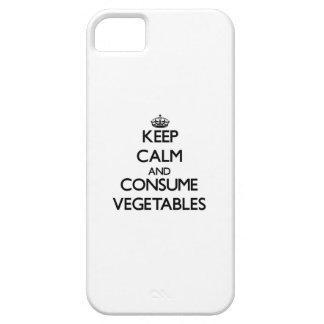 Mantenga tranquilo y consuma las verduras iPhone 5 Case-Mate carcasa