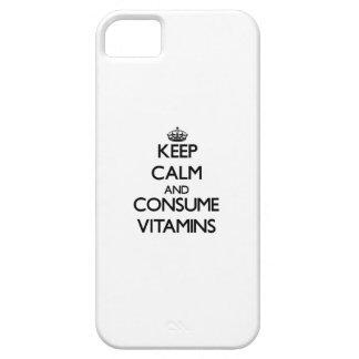 Mantenga tranquilo y consuma las vitaminas iPhone 5 carcasas