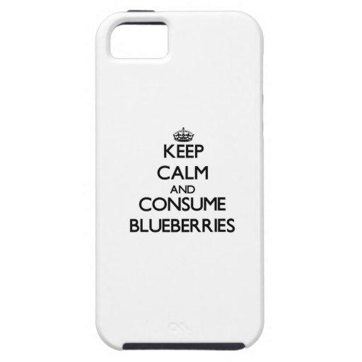 Mantenga tranquilo y consuma los arándanos iPhone 5 Case-Mate carcasas
