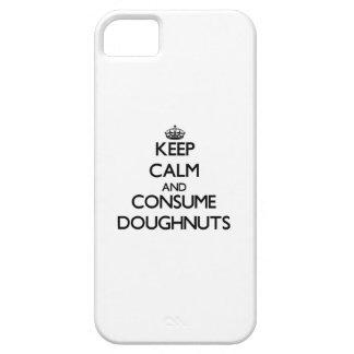 Mantenga tranquilo y consuma los buñuelos iPhone 5 carcasas