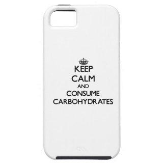 Mantenga tranquilo y consuma los carbohidratos iPhone 5 Case-Mate protectores