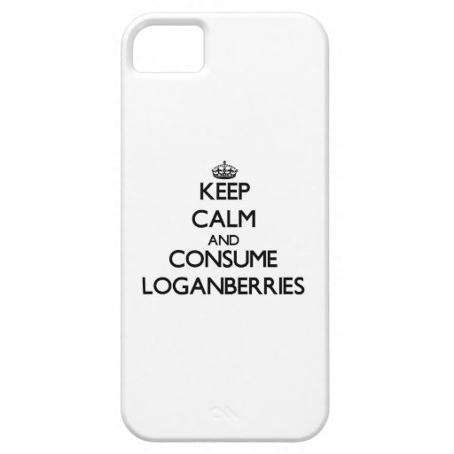 Mantenga tranquilo y consuma los frambuesos iPhone 5 coberturas