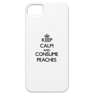 Mantenga tranquilo y consuma los melocotones iPhone 5 Case-Mate carcasa