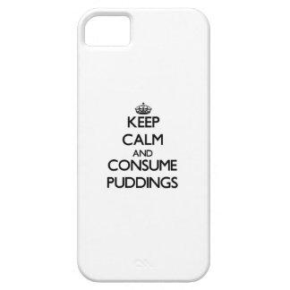 Mantenga tranquilo y consuma los pudines iPhone 5 Case-Mate cárcasas