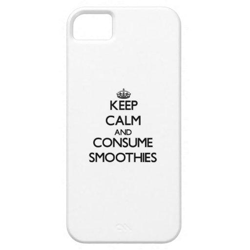 Mantenga tranquilo y consuma los Smoothies iPhone 5 Case-Mate Coberturas