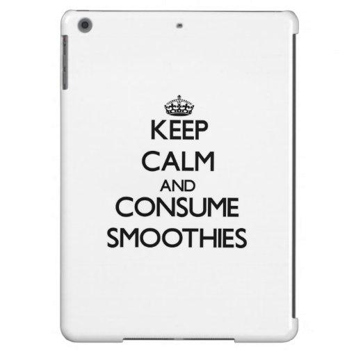 Mantenga tranquilo y consuma los Smoothies
