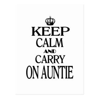 Mantenga tranquilo y continúe a la tía postal