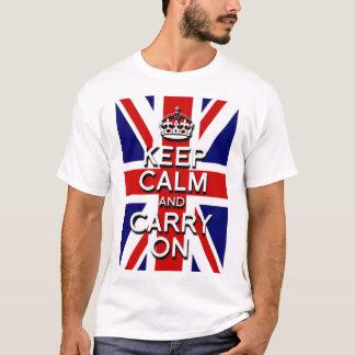 mantenga tranquilo y continúe la bandera de Union Camiseta