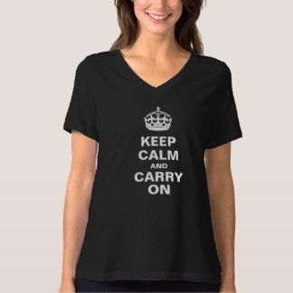 Mantenga tranquilo y continúe la camiseta