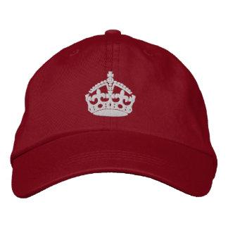 Mantenga tranquilo y continúe la corona gorra de béisbol