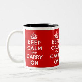 Mantenga tranquilo y continúe la taza