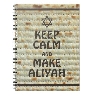 Mantenga tranquilo y haga Aliyah - Matzah Cuaderno