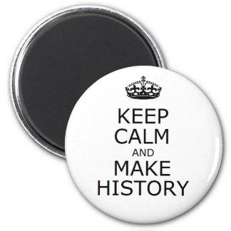 Mantenga tranquilo y haga el botón de la historia imanes