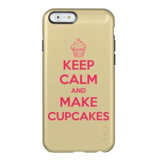 Mantenga tranquilo y haga las magdalenas funda para iPhone 6 plus incipio feather shine