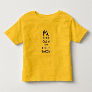 Mantenga tranquilo y lucha Bakom Camiseta De Bebé