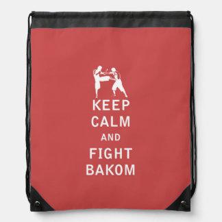 Mantenga tranquilo y lucha Bakom Mochilas